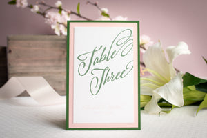 Personalized Table Number Signs