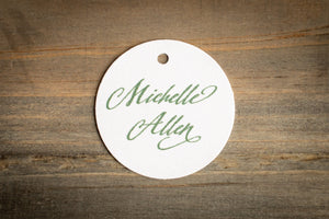 Minimalistic Place Card Tags