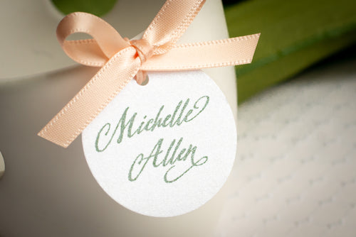 Mini, Round, Place Card Tags (Set of 5)