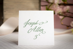 Square Place Cards (Set of 5)