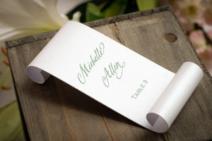 Place Card Scrolls (Set of 5)