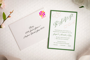 Invitation Suites with Ribbon (Set of 5)
