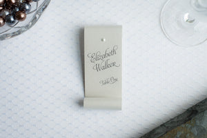 Double-Sided, Place Card Scrolls with Pearls (Set of 5)