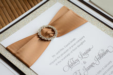 Pocket Invitation Suites with Glitter, Ribbon, and Mini Buckles (Set of 5)
