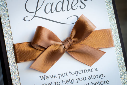 Personalized Signs with Glitter and Satin Bows