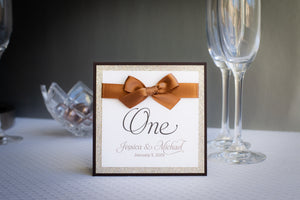 Shimmer-Satin, Sparkling, Personalized Table Numbers