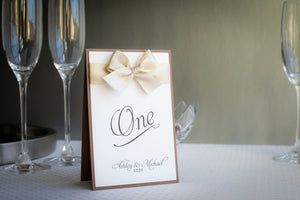Shimmer-Satin, Personalized Table Numbers