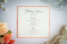 Square Menu Cards with Ribbon (Set of 5)