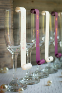Champagne Place Card Scrolls (Set of 5)