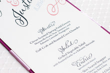 Menu Cards with Ribbon (Set of 5)