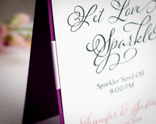 Shimmer-Satin, Personalized Signs