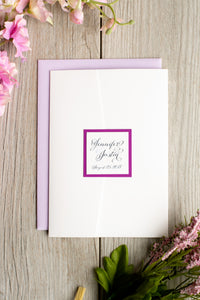 Shimmer-Satin Pocket Invitation Suites