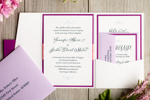 Pocket Invitation Suites with Ribbon (Set of 5)