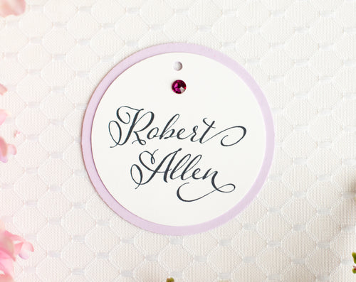 Sparkling Place Card Tags