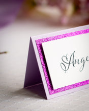Layered Place Cards with Glitter (Set of 5)