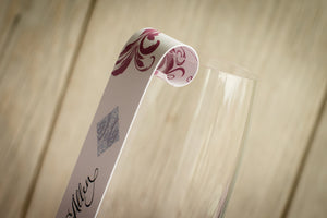 Swirly-Patterned, Champagne Place Card Scrolls (Set of 5)