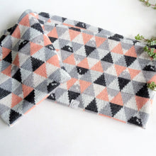 soft wool scarf for kids, triangle mountain pattern