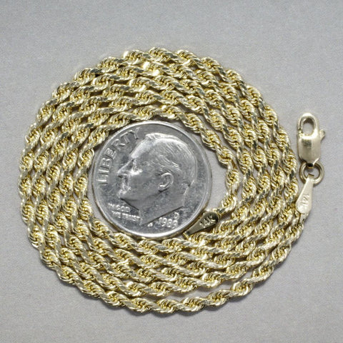 Cotton Boll Medallion with Diamond Cotton Boll on 2.5mm Rope Chain by agrijewelry.com