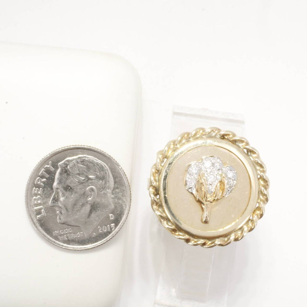 Ladies Single Cotton Boll Large Coin Ring