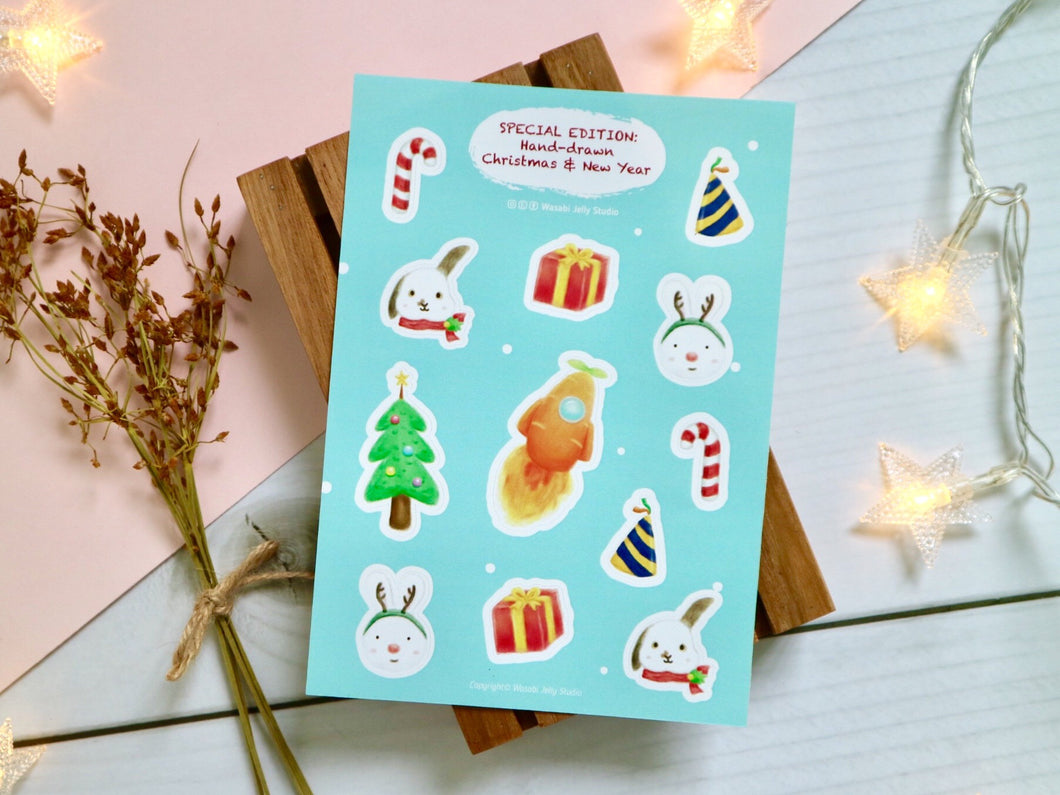 Christmas & New Year Stickers by WASABIJELLY