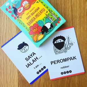 Say What? Learn Language Playing Cards