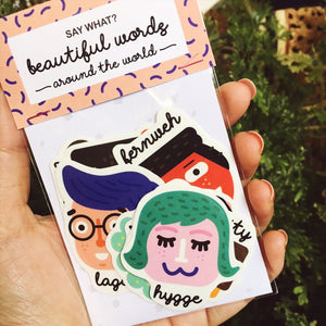 SAYWHAT? BEAUTIFUL WORDS AROUND THE WORLD STICKERS