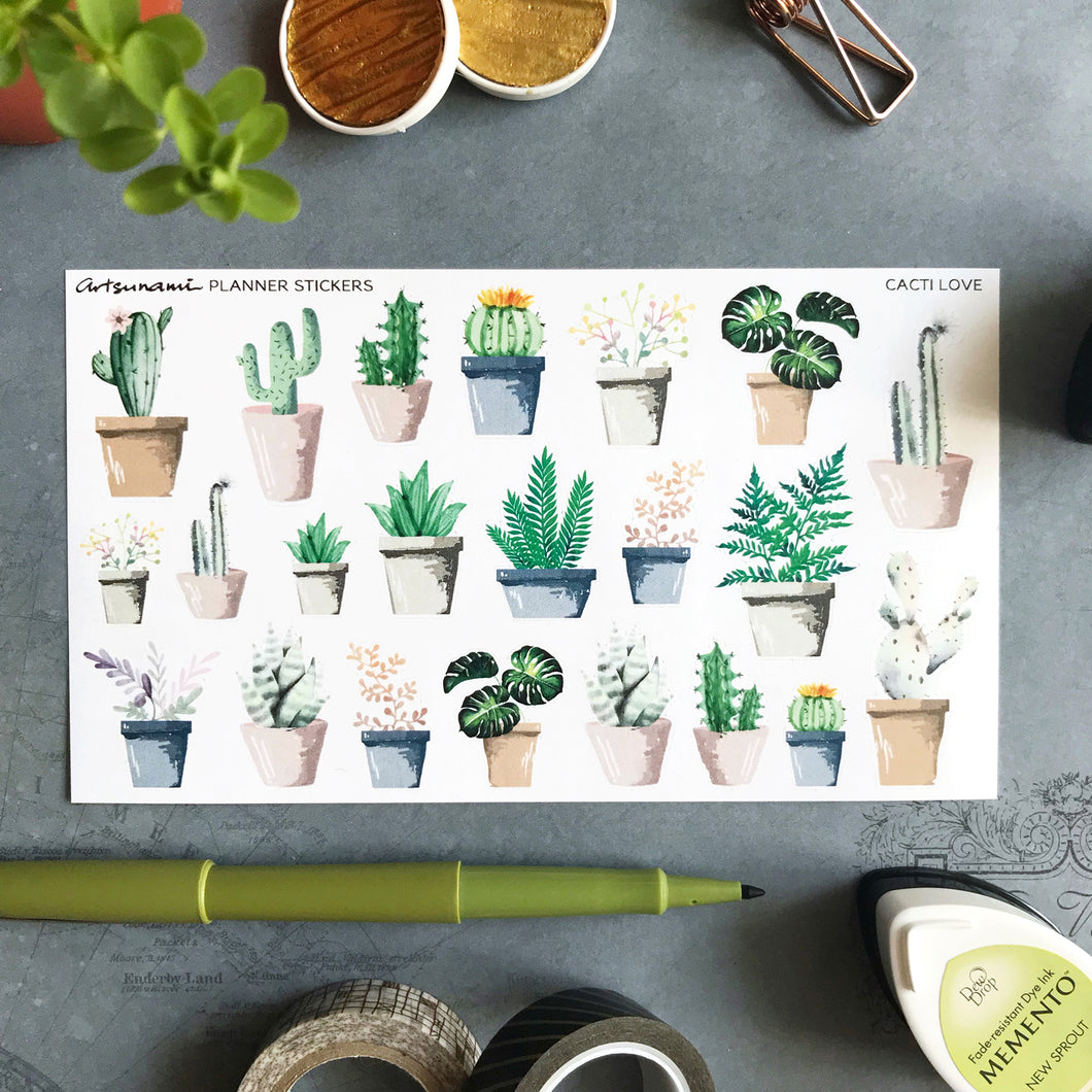 Planner Stickers - Cacti Love