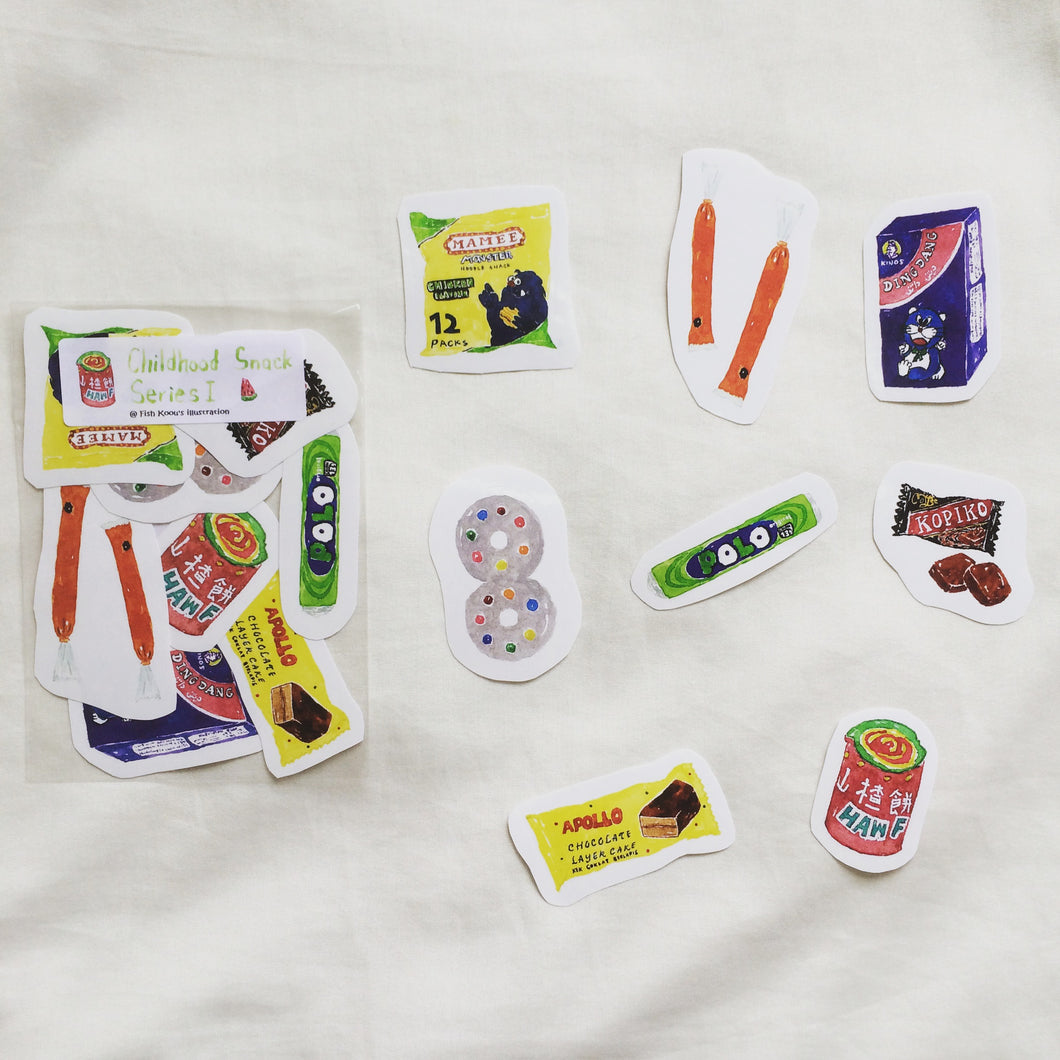 Childhood Snack Stickers