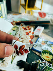 Delicate Botanical Flake Stickers