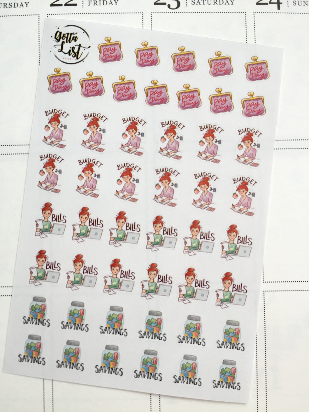 Finance Sticker Sheet