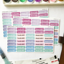 Planner Stickers - Eating Out