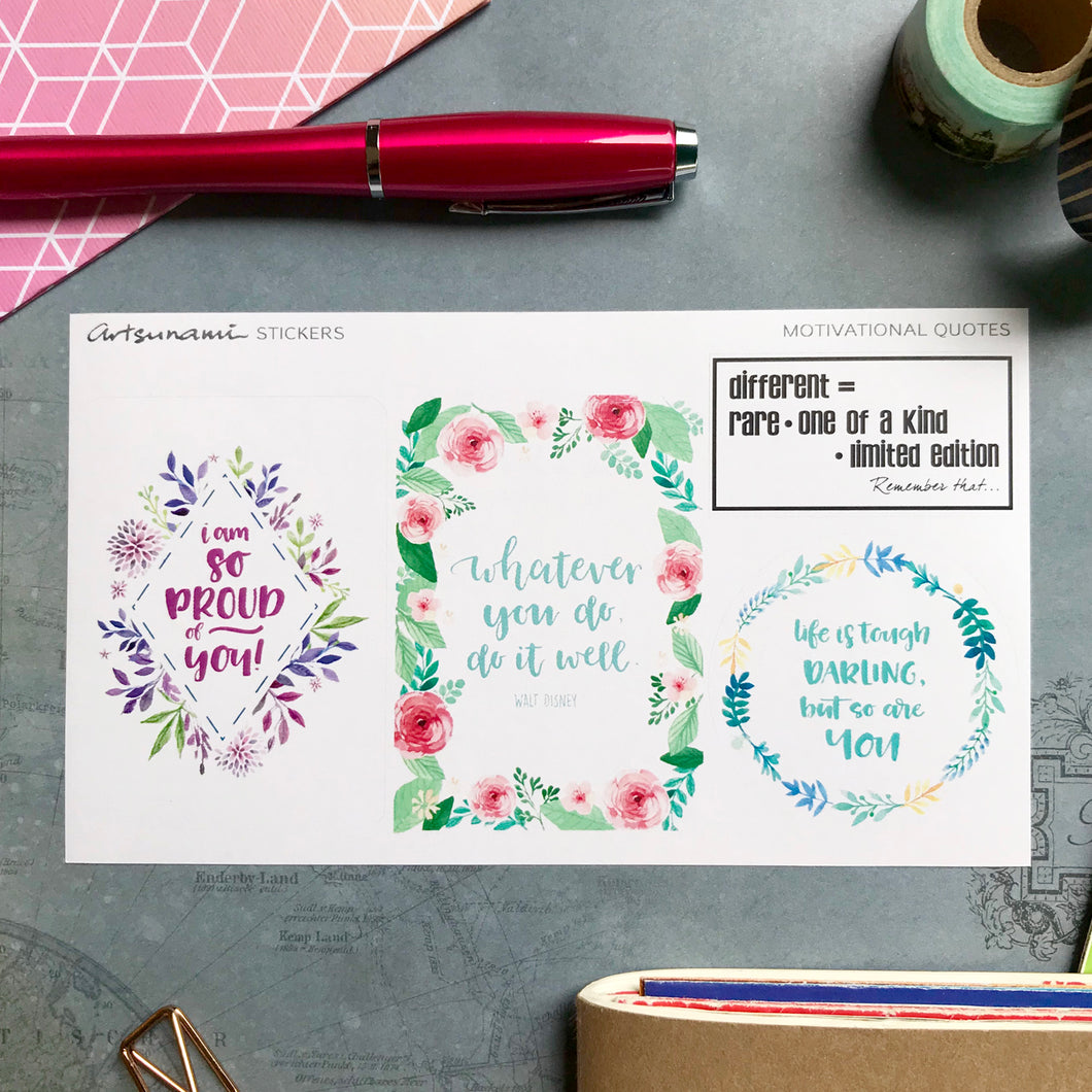 Planner Stickers - Big Quotes 03