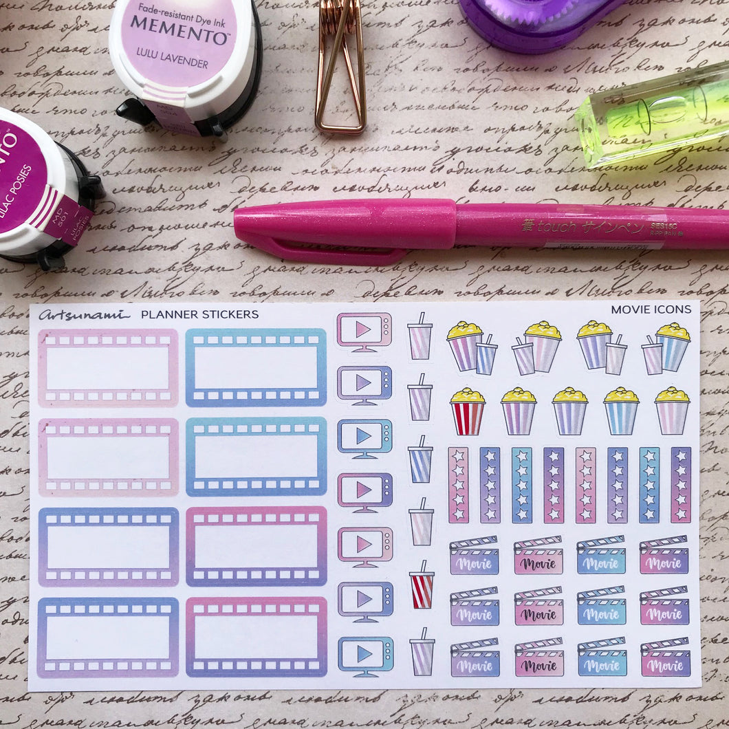 Movie Icons Artsunami Planner Stickers