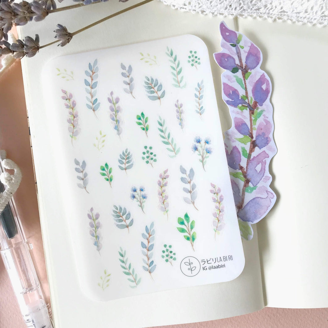 Violet Leaves Sticker