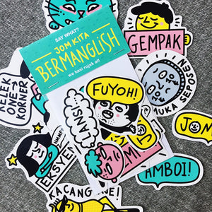 MANGLISH STICKER SET A