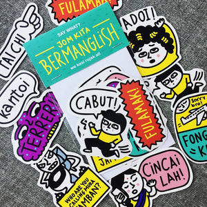 MANGLISH STICKERS SET B