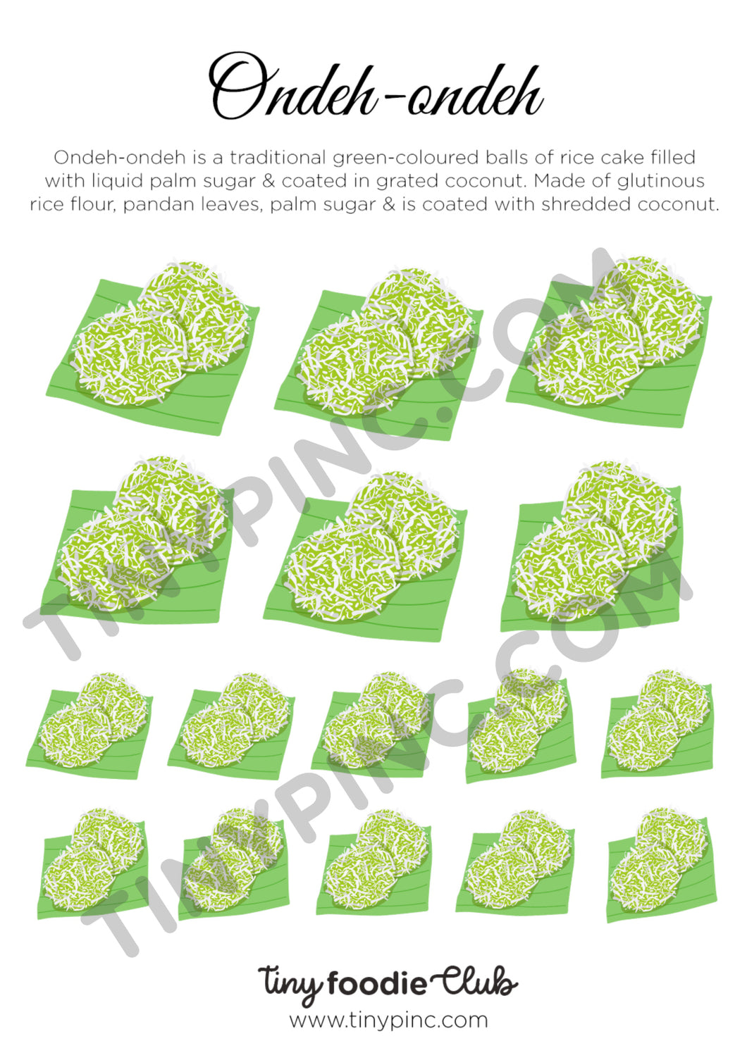 Ondeh-ondeh Sticker Sheet