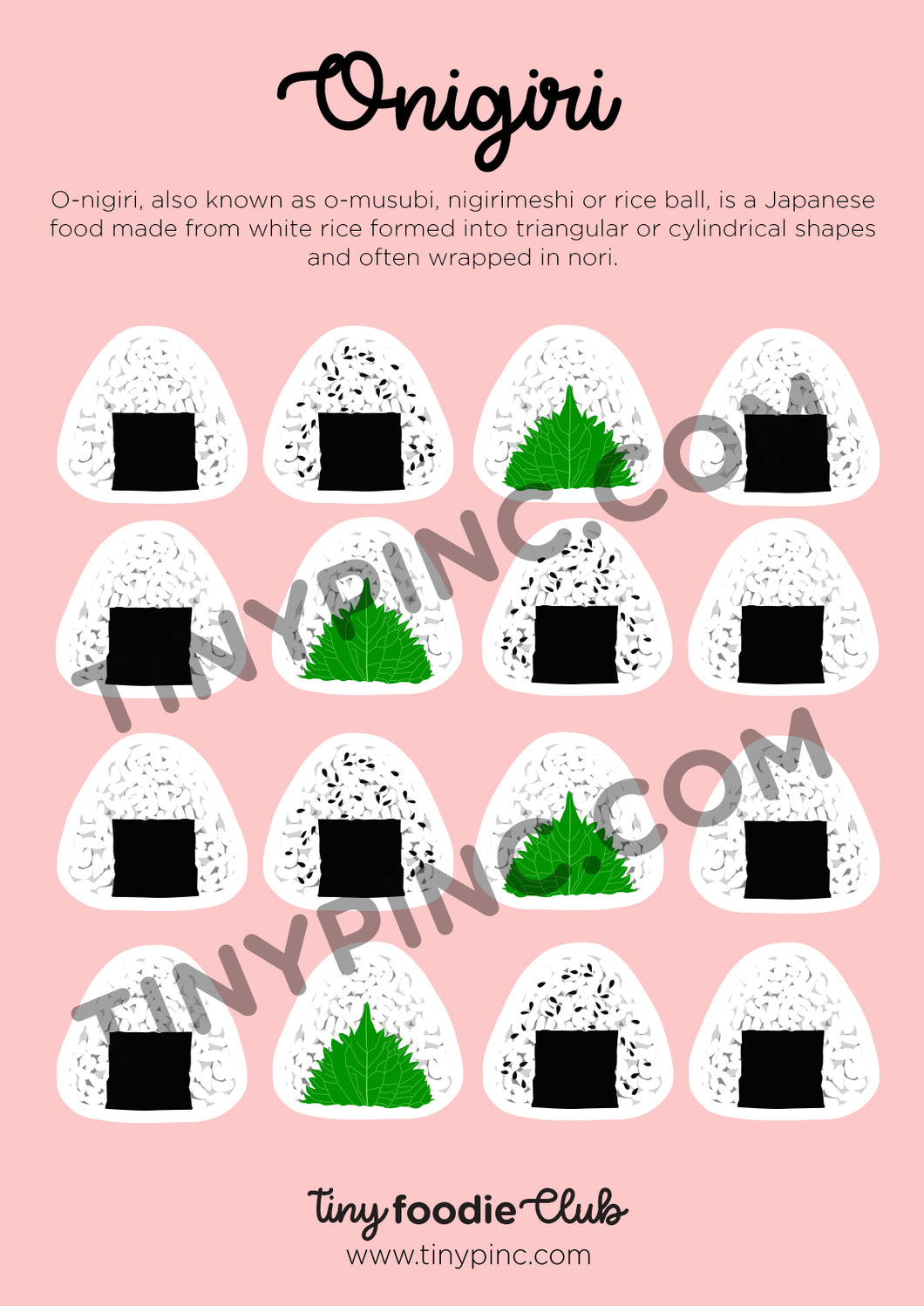 Onigiri Sticker Sheet