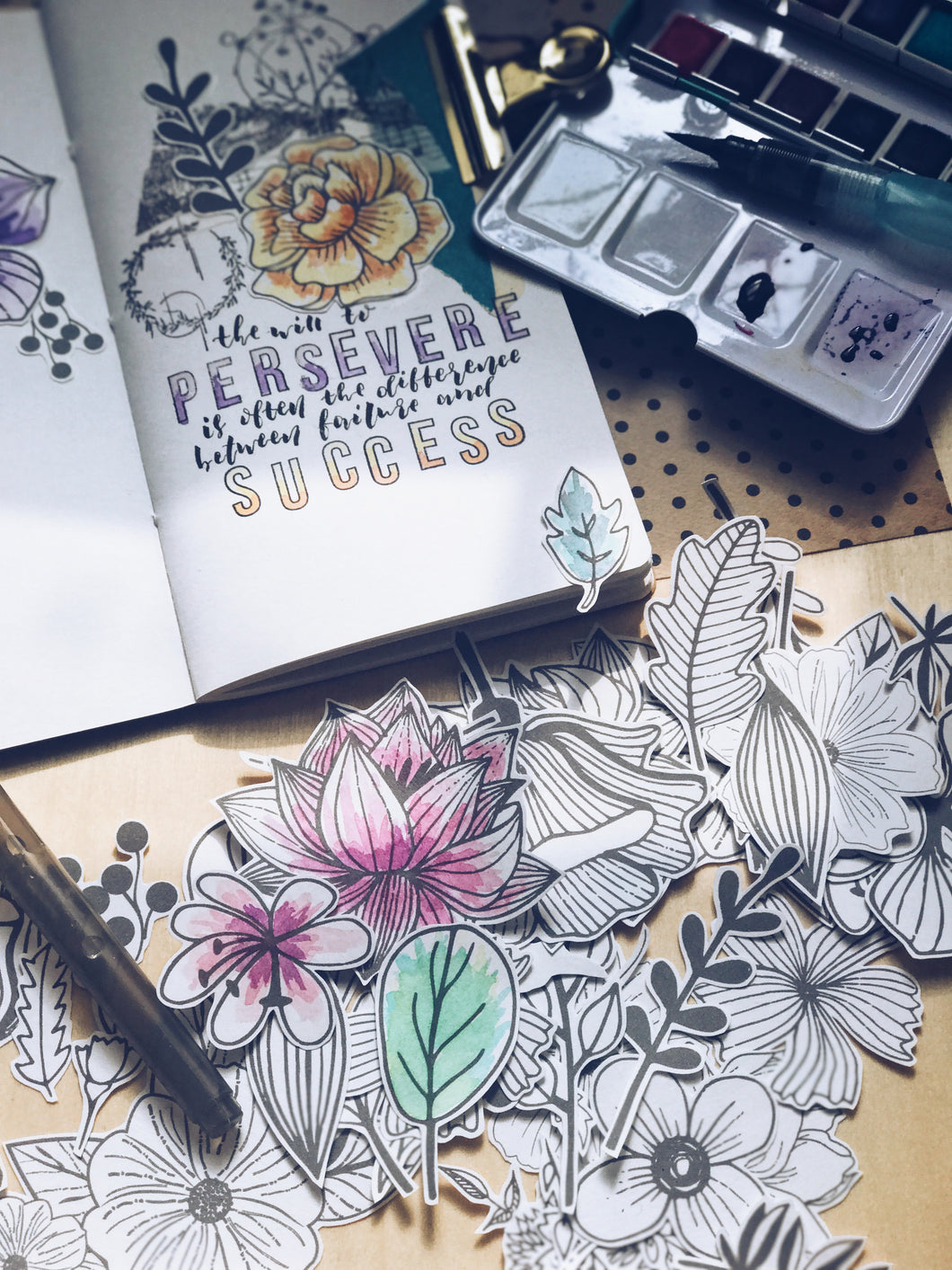 Sketched Botanical Die Cuts