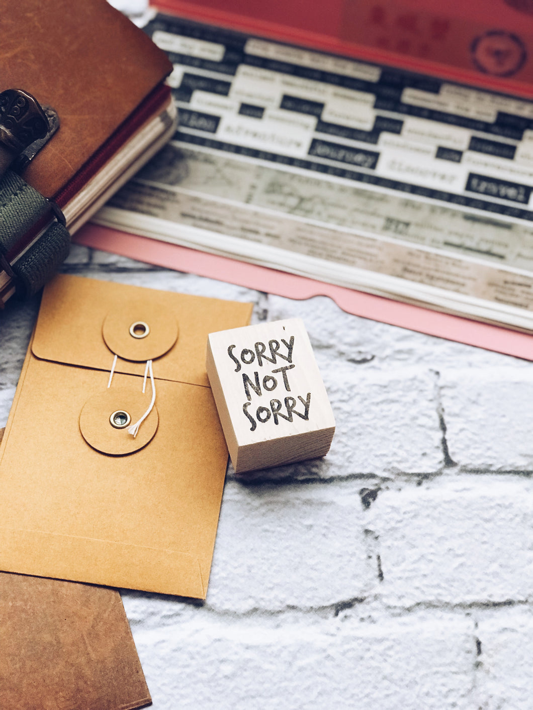 'Sorry Not Sorry' Rubber Stamp