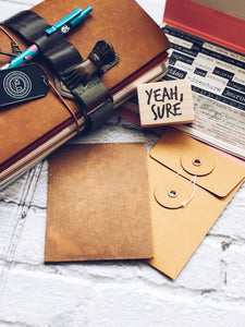 'Yeah Sure' Rubber Stamp