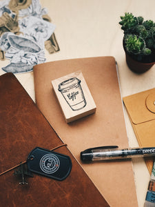 Coffee Cup Rubber Stamp