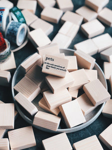 Dictionary Rubber Stamp Series