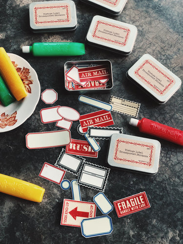 Vintage Label Transparent Stickers