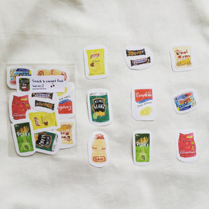 Snack & Canned Food Sticker Series