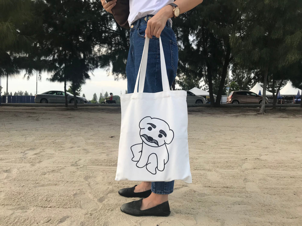 TheBoyIllustration Lucky Puppy Tote Bag