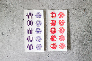 Traditional Japanese Chiyogami Print Hexagon Stickers by AlltheNs