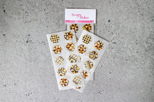 Japanese Yosegi Wood Print Hexagon Stickers by AlltheNs