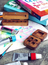 Handmade Wooden Travel Watercolour Palette