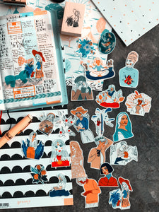 Colourful Girls Sticker Set